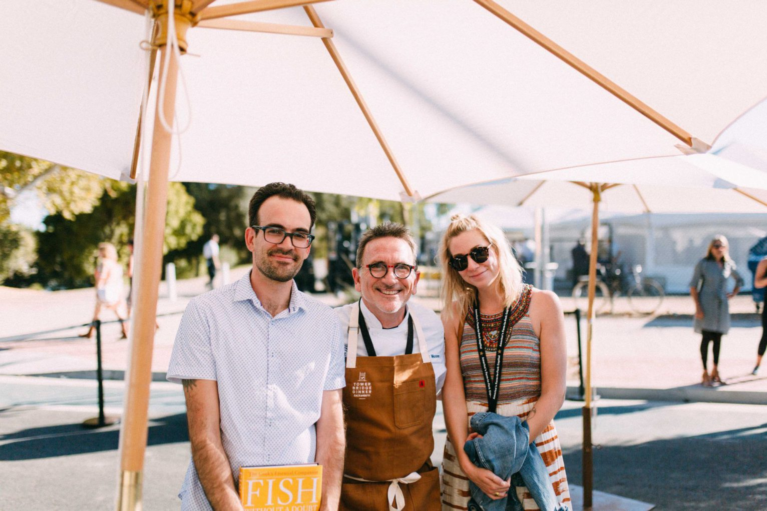 Chef Rick Moonen with Grady, Art Director and Ashley, Senior Graphic Designer