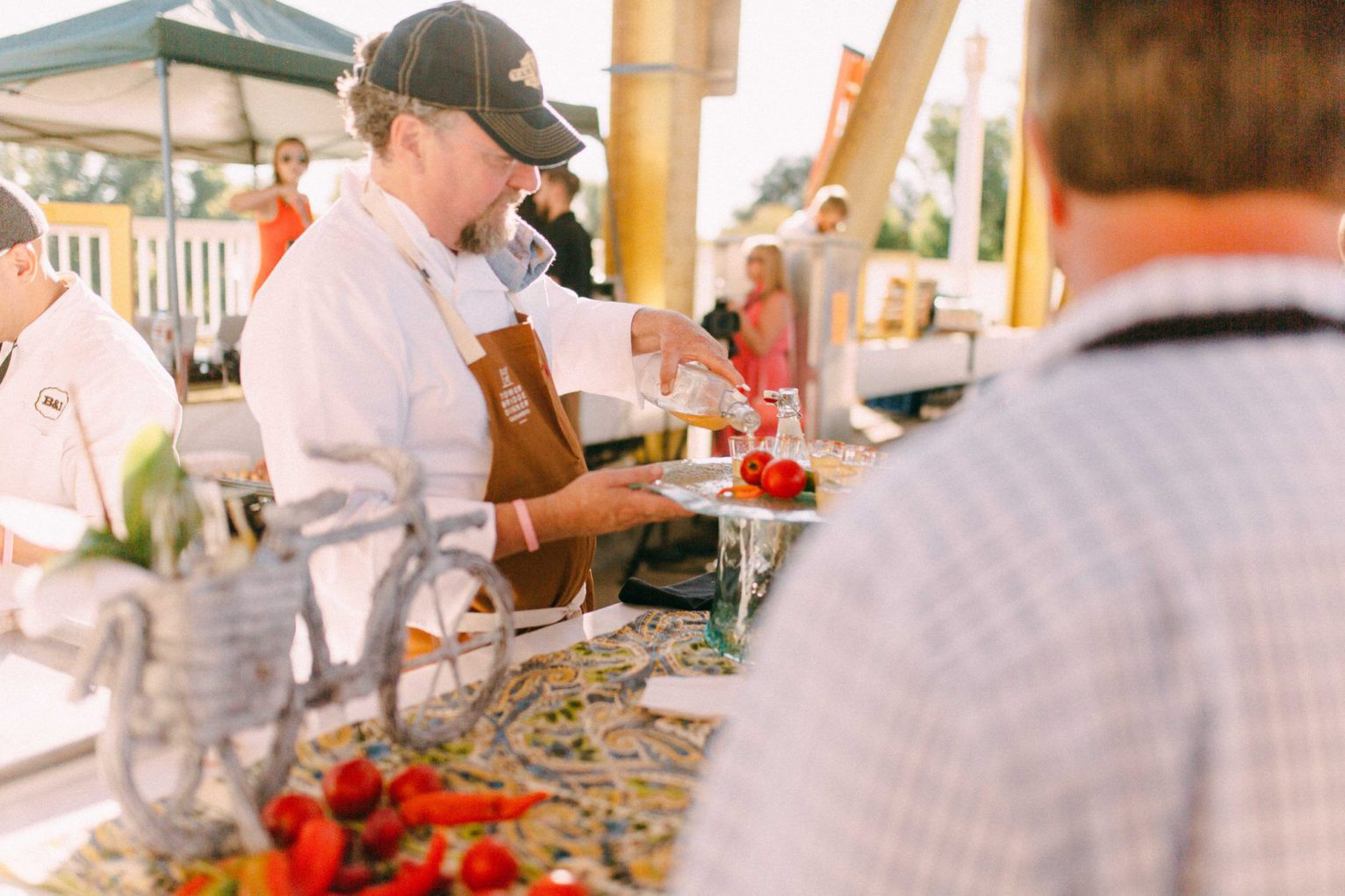 Chef Patrick Mulvaney serving up a fresh take on Bloody Marys