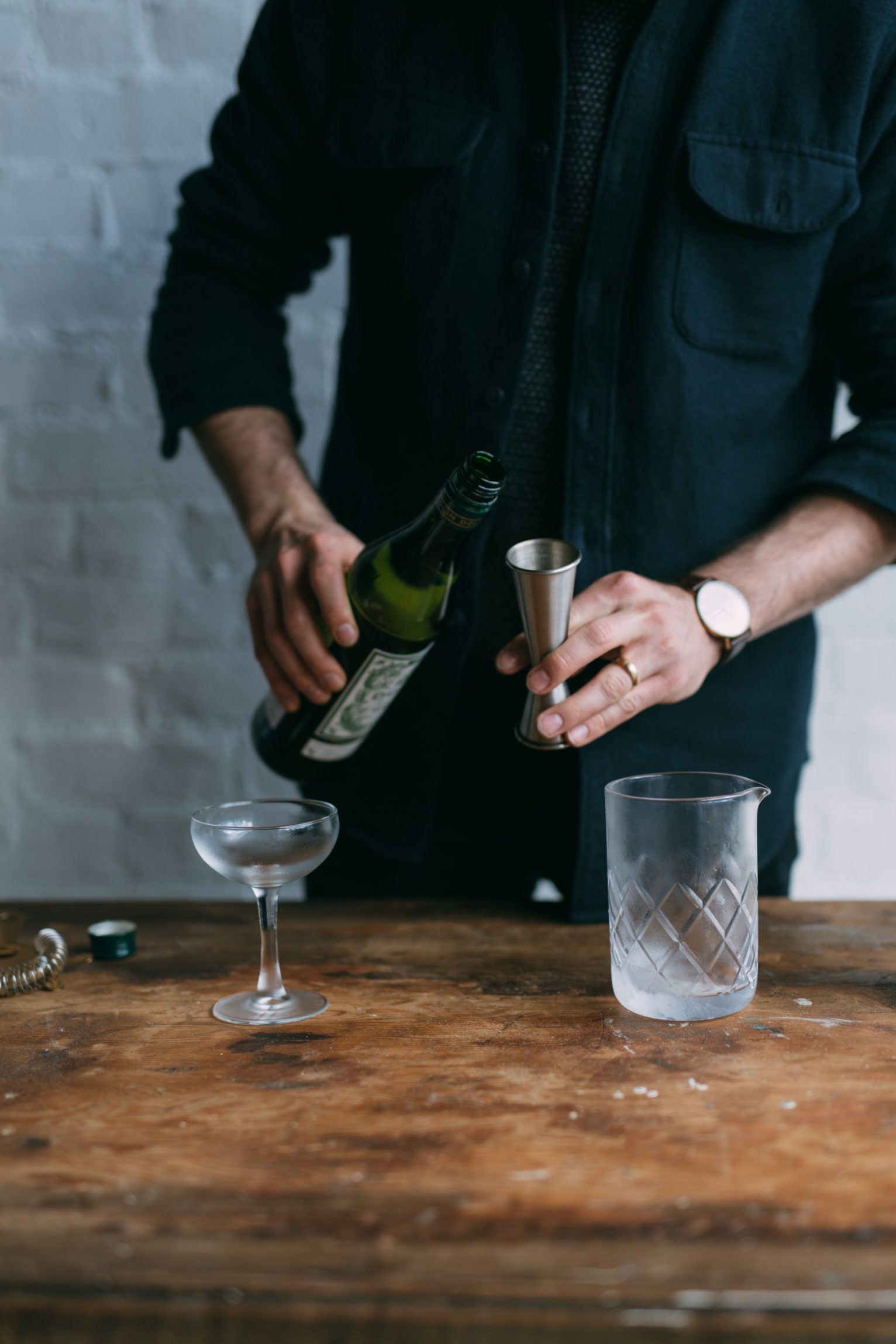 Pouring vermouth