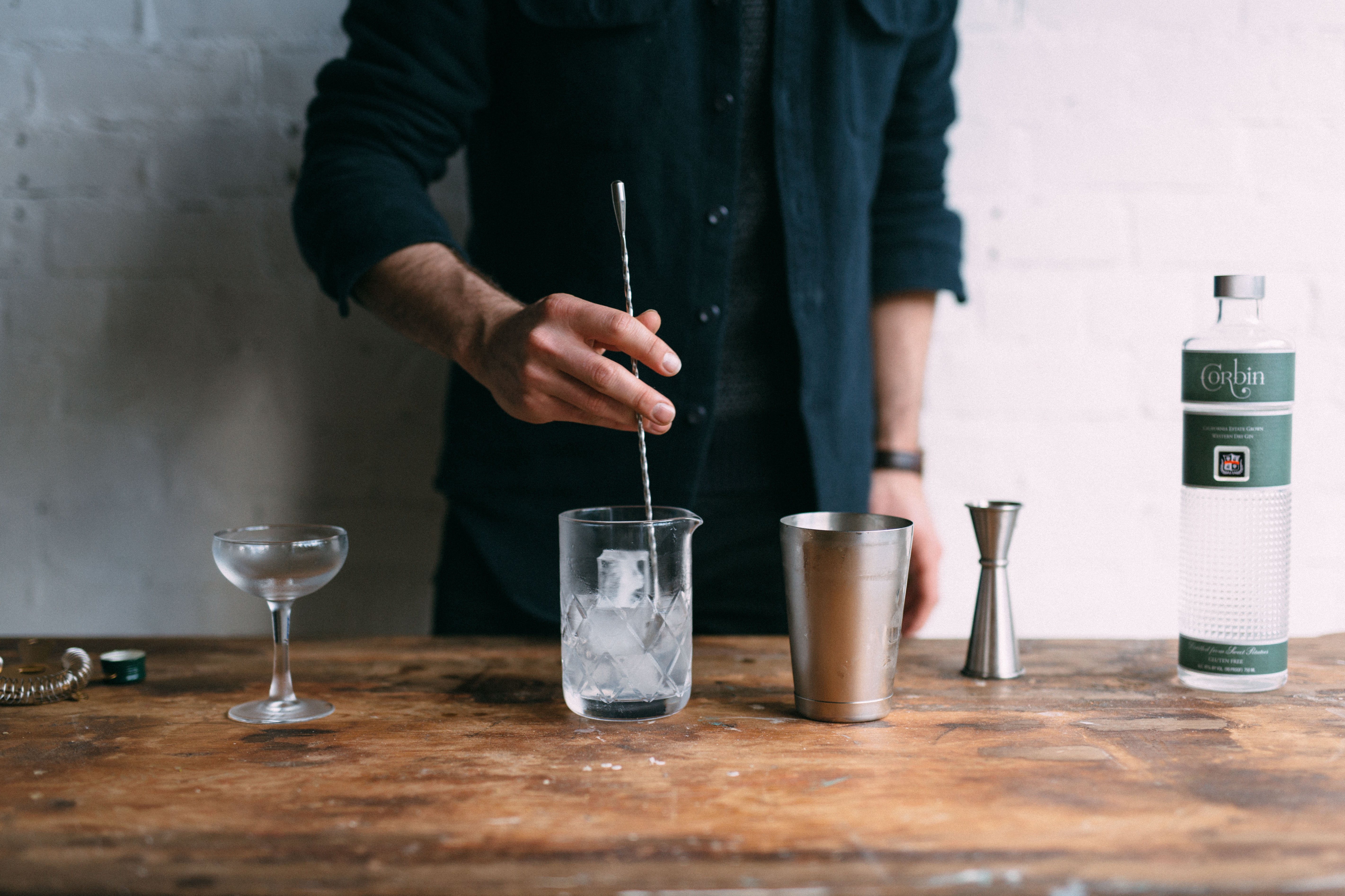 Stirring the martini
