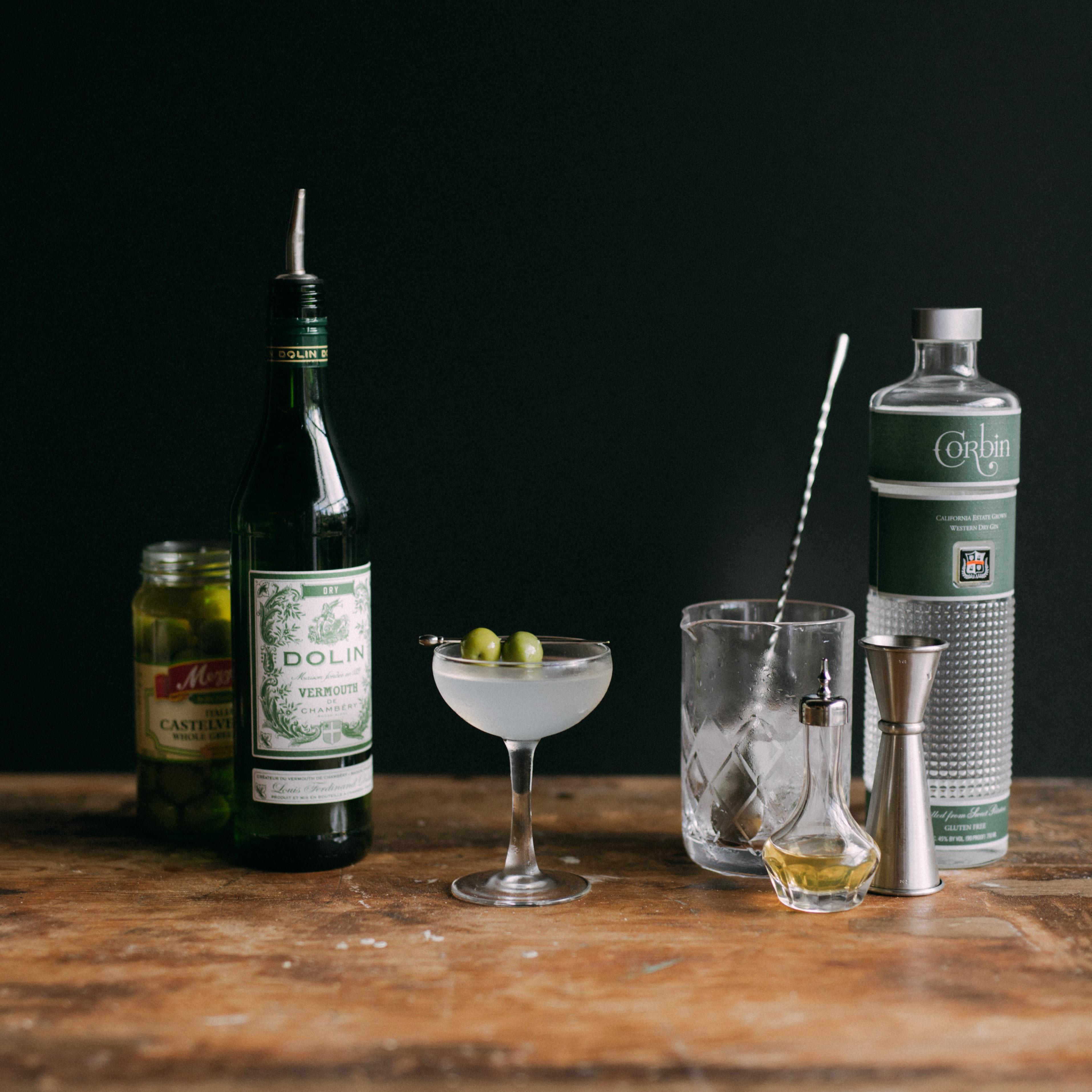 Vermouth Martini, Bitters, Corbin Gin