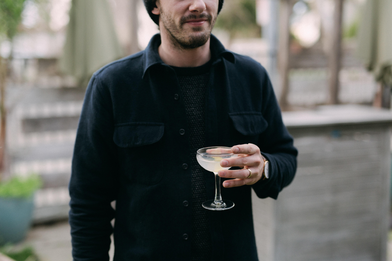 Josh Reeder-Esparza drinking a Martini