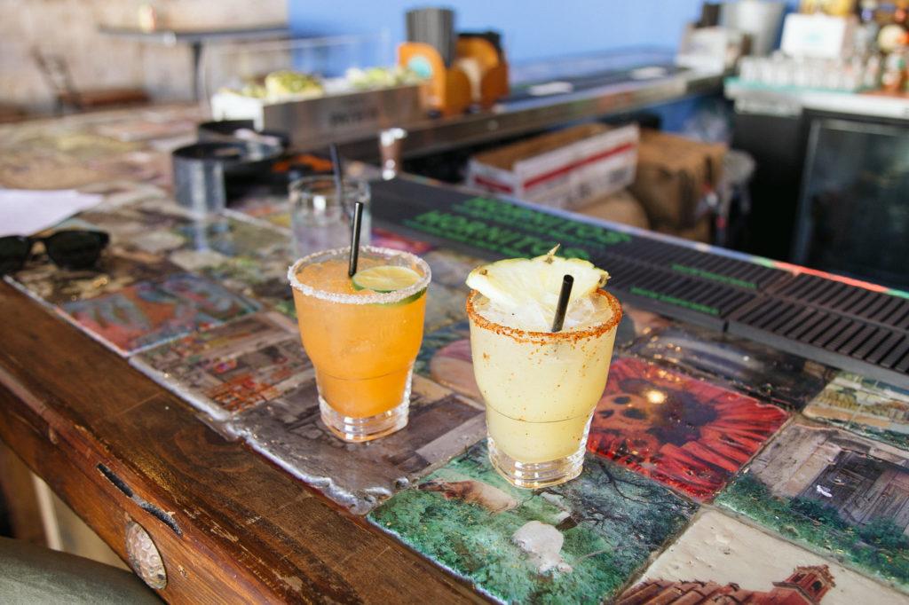 Mescalita & Spicy Margarita on the bar