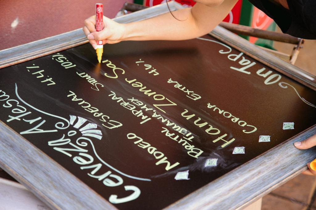 Hand-written sign