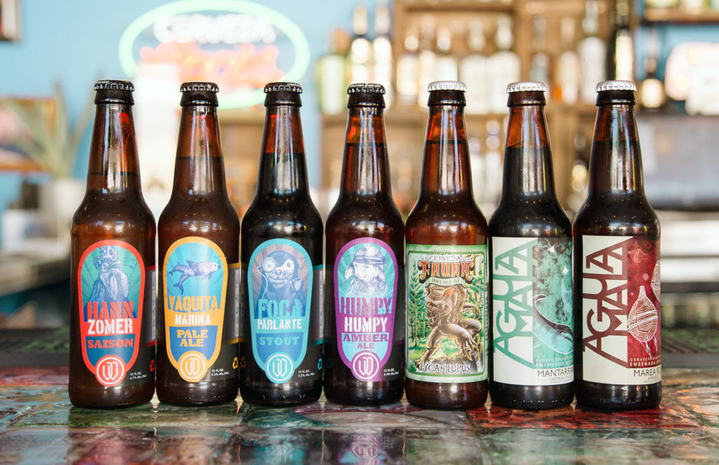A few craft beers from Mexico