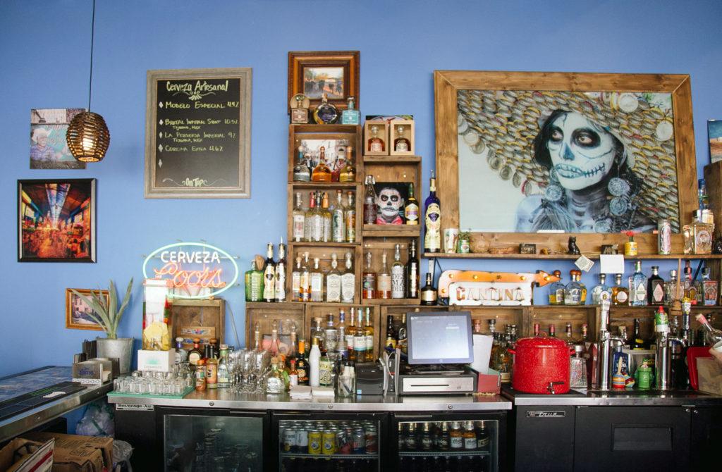 The bar at Cantina Alley