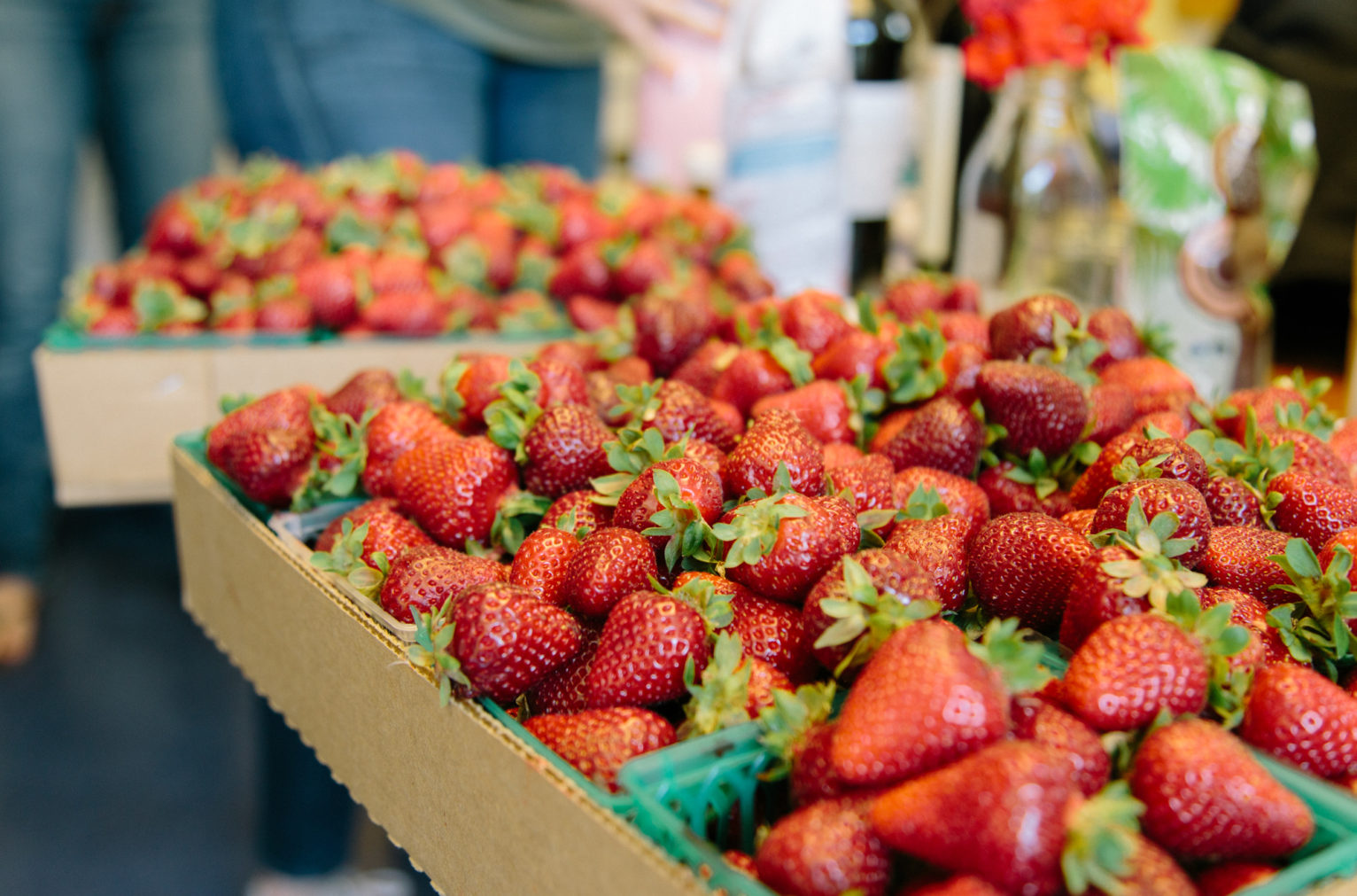 Organic Strawberries from the Cesar Chavez Certified Farmers' Market