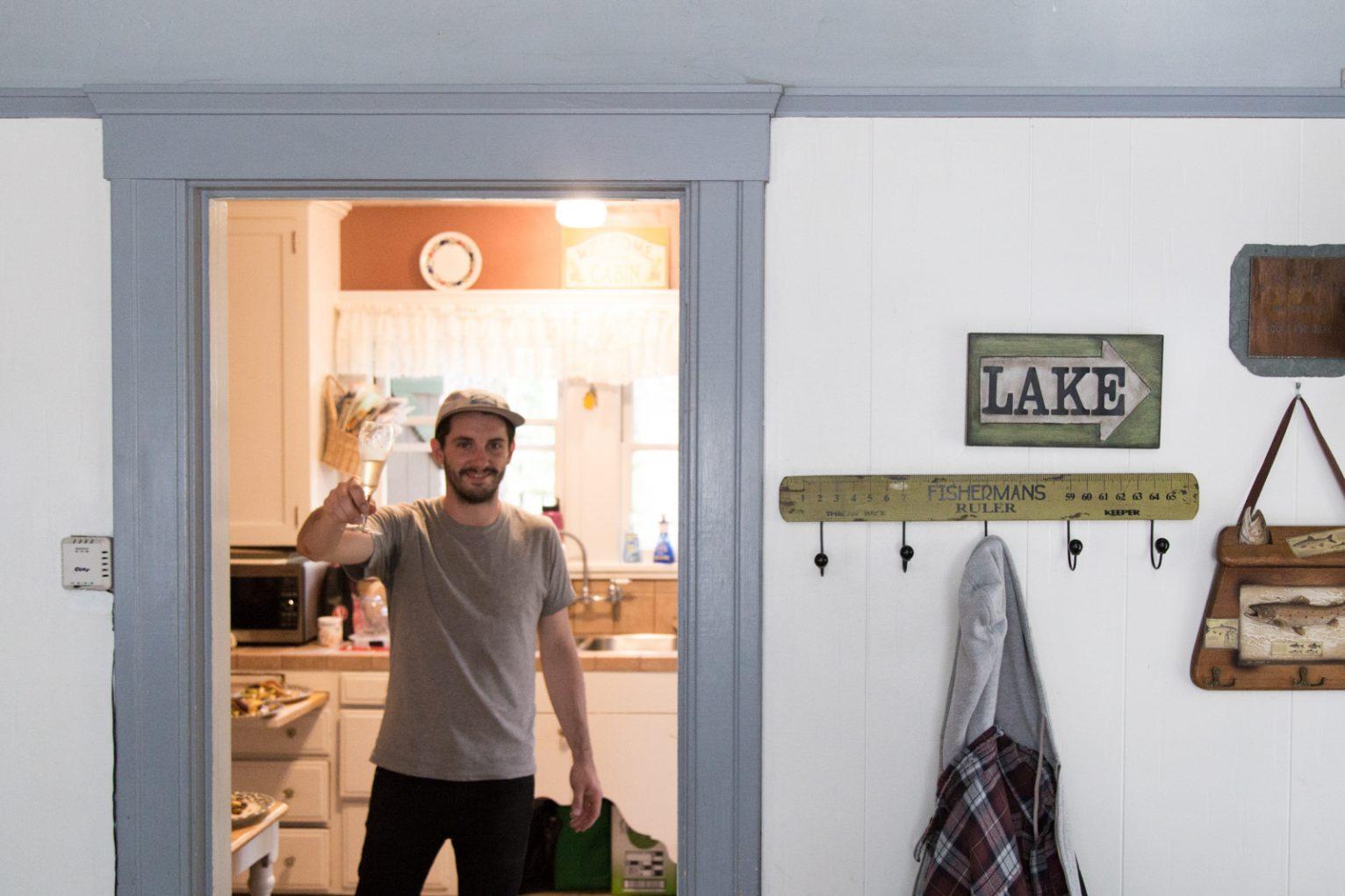 Josh Reeder-Esparza in the kitchen
