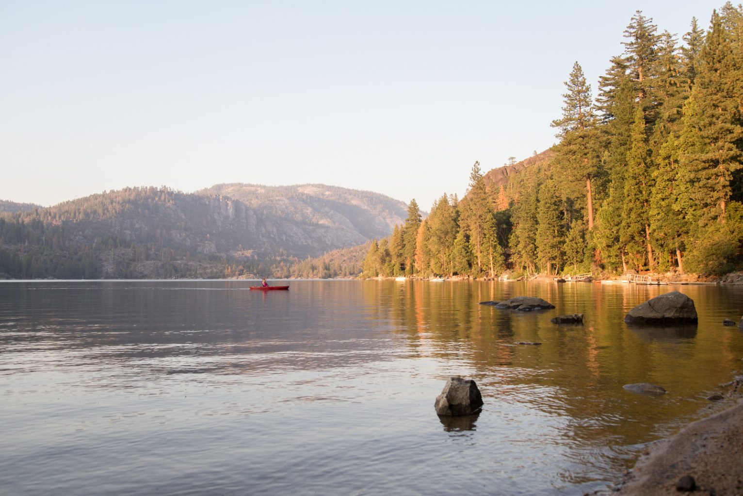 The shore at Pinecrest Lake