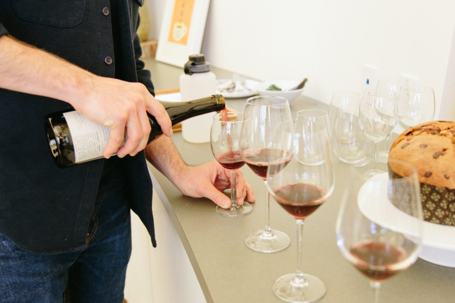 Pouring the Gramercy Cellars