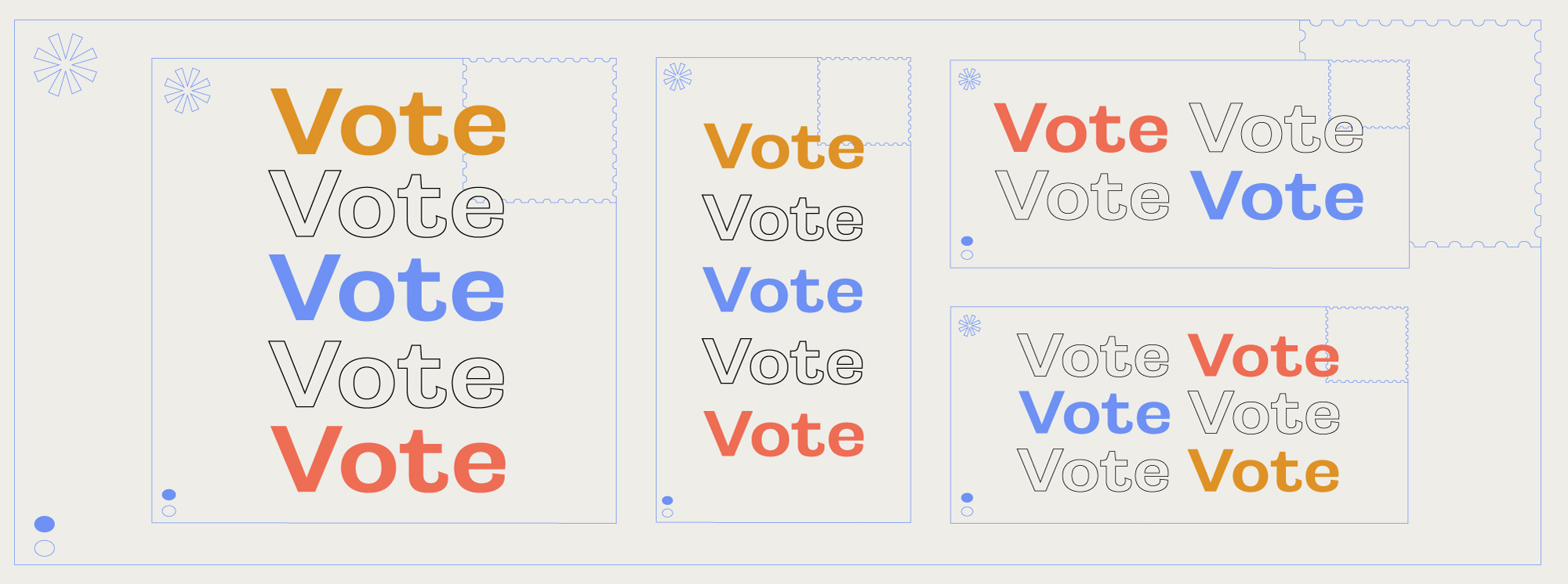 Vote social graphics overview