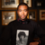 Tre Borden wearing a shirt with his mother's photo on it