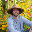 Grower from Yuba River Organics, outdoor cannabis farm