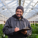 Grower from Tilth, greenhouse cannabis farm
